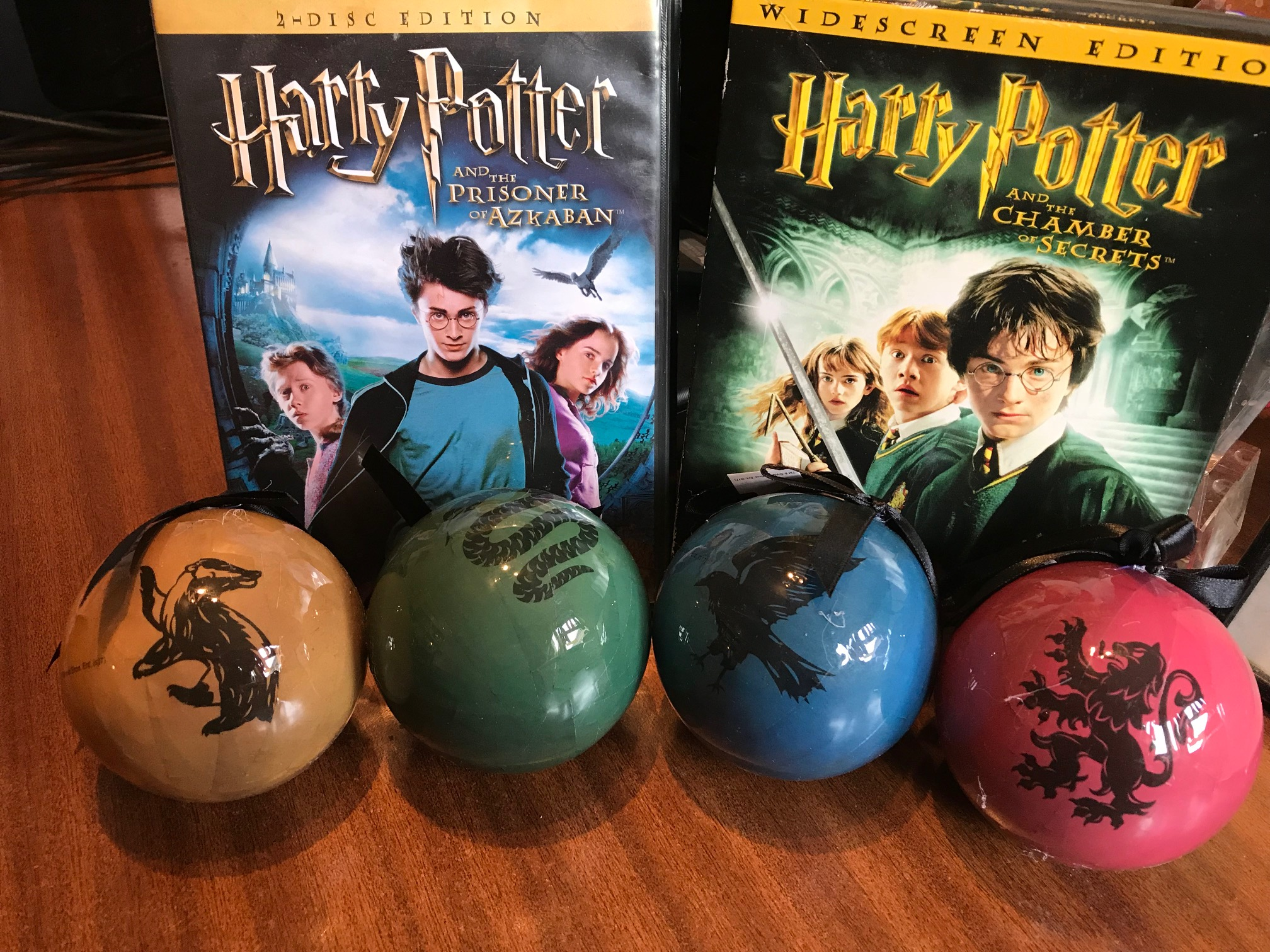 The Hairy Purrtor Baubles and DVDs